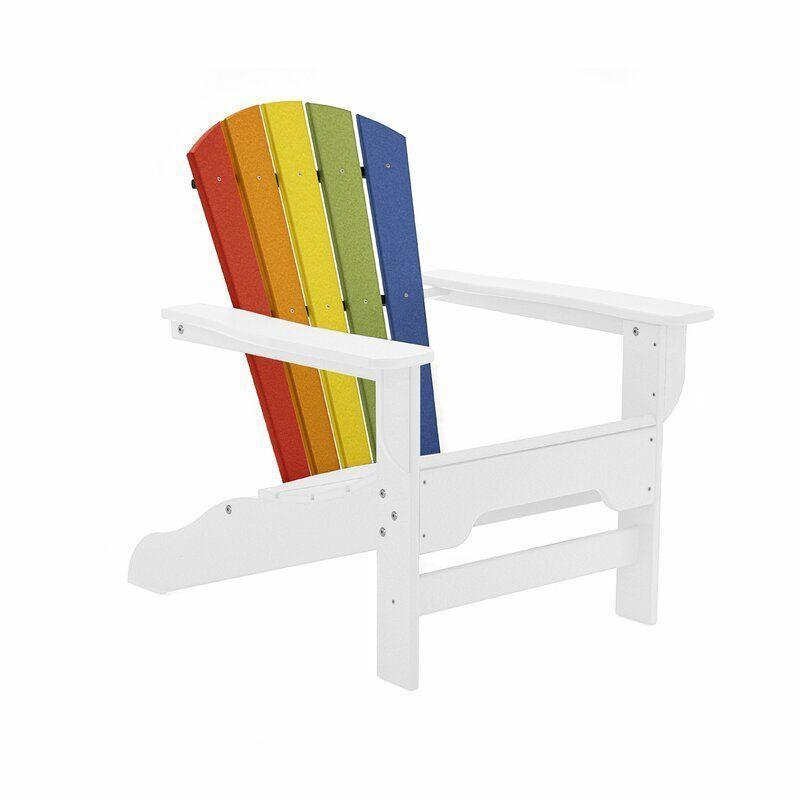 """<p><strong>Breakwater Bay</strong></p><p>wayfair.com</p><p><strong>$249.90</strong></p><p><a href=""""https://go.redirectingat.com?id=74968X1596630&url=https%3A%2F%2Fwww.wayfair.com%2Foutdoor%2Fpdp%2Fbreakwater-bay-strickland-plasticresin-adirondack-chair-bkwt3141.html&sref=https%3A%2F%2Fwww.countryliving.com%2Fhome-design%2Fdecorating-ideas%2Fg28335824%2Fbest-adirondack-chair%2F"""" rel=""""nofollow noopener"""" target=""""_blank"""" data-ylk=""""slk:Shop Now"""" class=""""link rapid-noclick-resp"""">Shop Now</a></p><p>This bright option, made from recycled material, comes in 50+ other fun hues. </p>"""