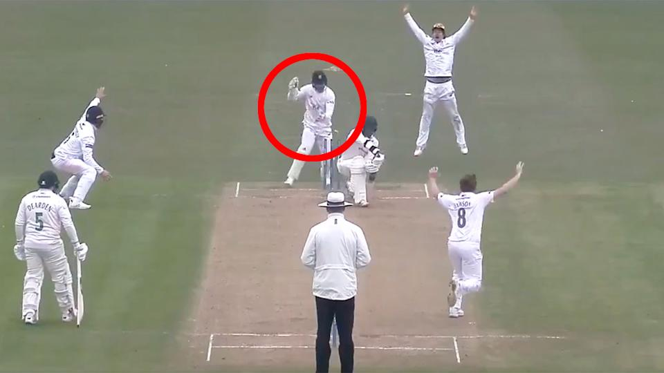 Lewis McManus' stumping of Hassan Azad has led to outrage in the cricket world. Pic: Wisden