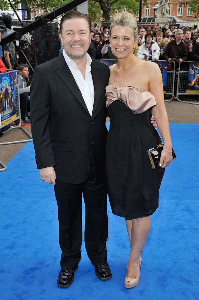 """<a href=""""http://movies.yahoo.com/movie/contributor/1808438269"""">Ricky Gervais</a> and Jane Fallon at the London premiere of <a href=""""http://movies.yahoo.com/movie/1810028001/info"""">Night at the Museum: Battle of the Smithsonian</a> - 05/12/2009"""