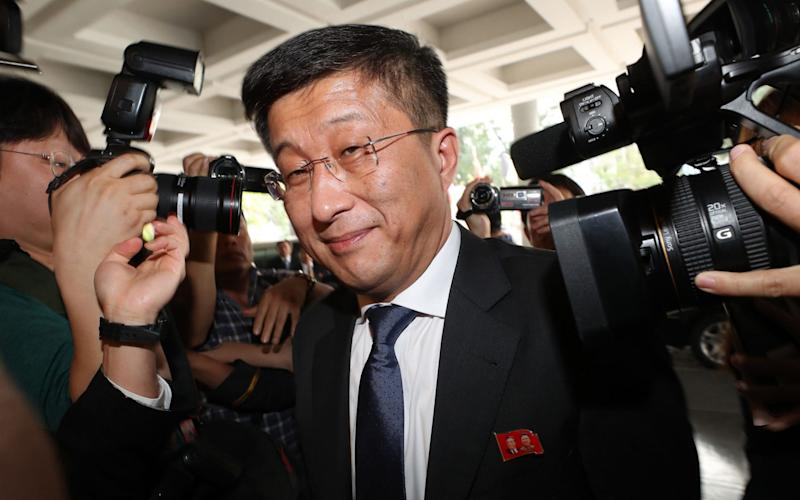 North Korea's special representative Kim Hyok-chol, seen here arriving for talks with his US counterpart Stephen Biegun in Hanoi - AFP