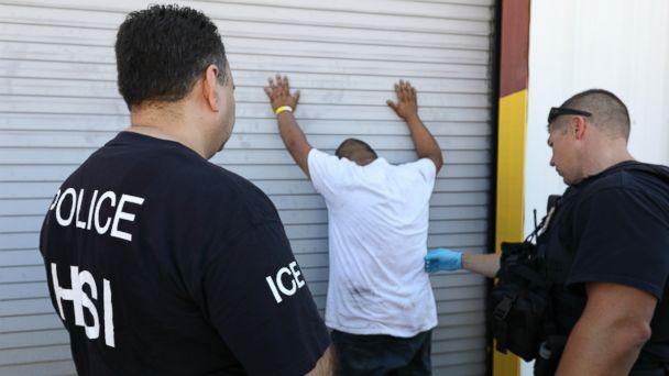 PHOTO: ICE detained 160 workers at Load Trail, a trailer manufacturing company in Texas. (US Immigration and Customs Enforcement )