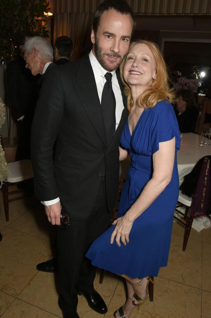 <p>The ever-dapper Tom Ford with Patricia Clarkson at the Green Carpet Challenge party (Photo: Getty Images) </p>