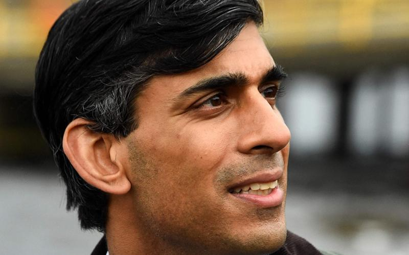 Rishi Sunak, pictured during a visit to Scotland on Friday - ANDY BUCHANAN/AFP