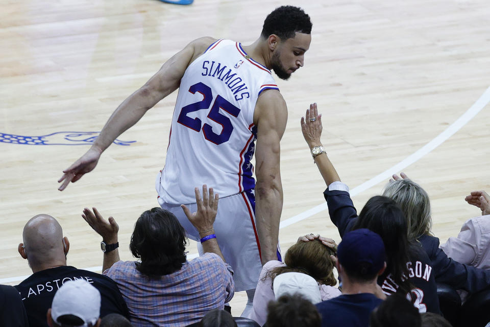 Ben Simmons has four years remaining on his contract with the Philadelphia 76ers. (Tim Nwachukwu/Getty Images)