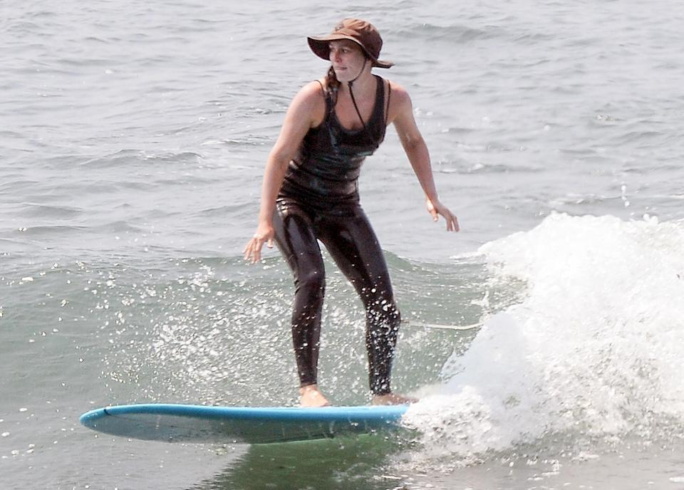 <p>Leighton Meester crushes the waves at the beach in Malibu on July 21. </p>