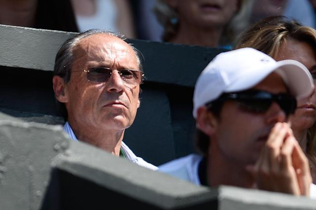 LONDON, ENGLAND - JULY 06: Marion Bartoli of France's father Walter Bartoli watches his daughter during her Ladies' Singles final match against Sabine Lisicki of Germany on day twelve of the Wimbledon Lawn Tennis Championships at the All England Lawn Tennis and Croquet Club on July 6, 2013 in London, England. (Photo by Dennis Grombkowski/Getty Images)