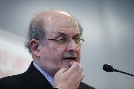 Author Salman Rushdie speaks during the opening news conference of the Frankfurt book fair, Germany October 13, 2015. REUTERS/Ralph Orlowski