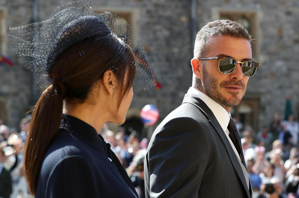 The Beckhams were also at the wedding of the Duke and Duchess of Cambridge (Picture: PA)