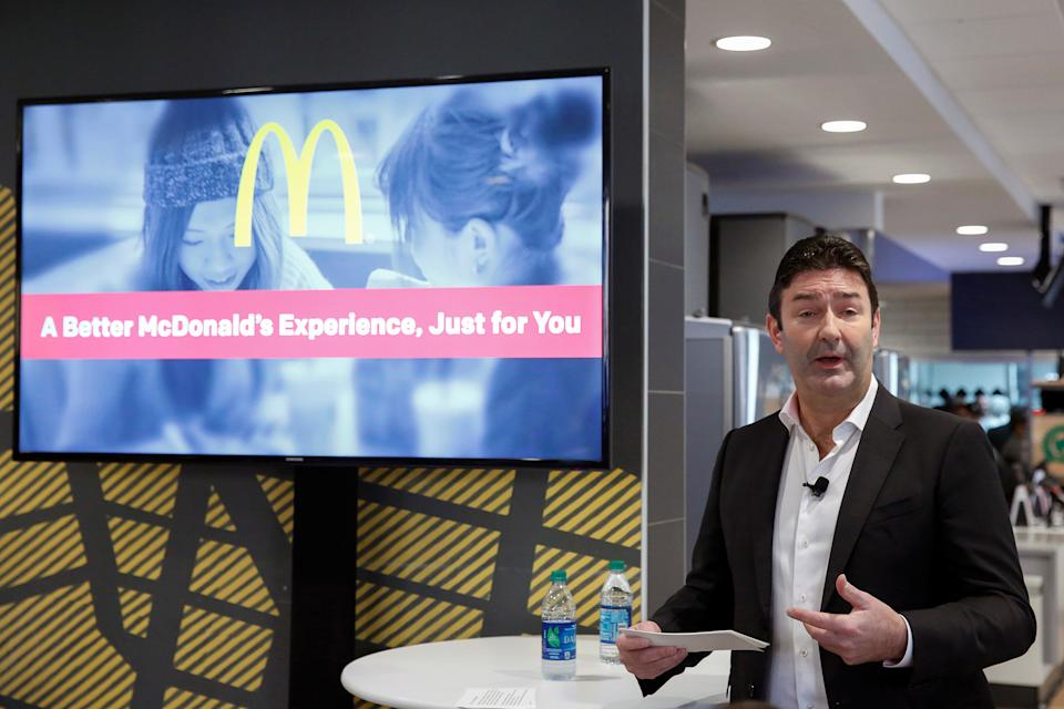 McDonald's CEO Steve Easterbrook speaks during a press conference in New York November 17, 2016.  REUTERS/Shannon Stapleton