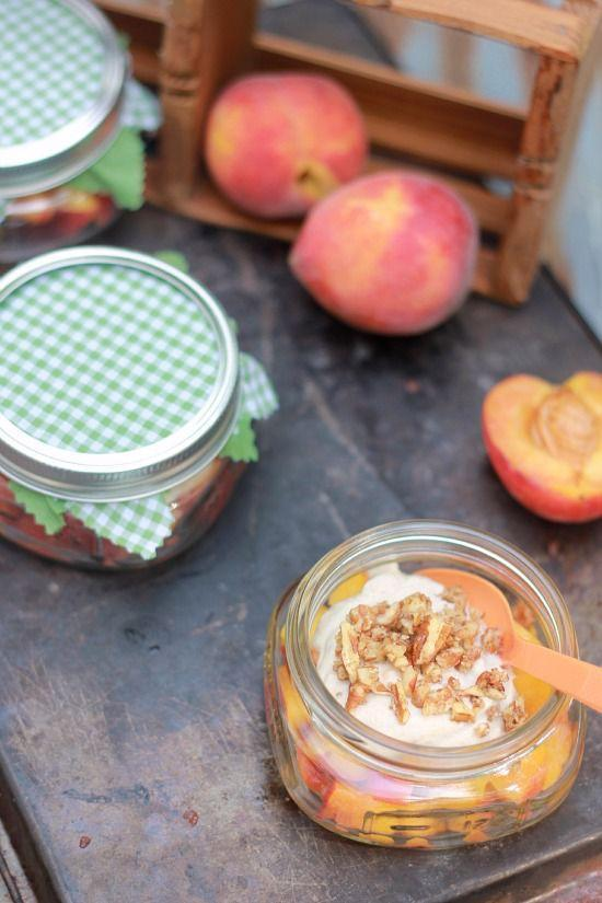"<p>Grab the ripest peaches you can find for a new take on an old classic. This time, cashew cream adds a nutty flavor to this super sweet dessert. </p><p><strong>Get the recipe at <a href=""https://bakerbettie.com/peaches-and-cream-raw-vegan/"" rel=""nofollow noopener"" target=""_blank"" data-ylk=""slk:Baker Bettie."" class=""link rapid-noclick-resp"">Baker Bettie.</a></strong></p>"