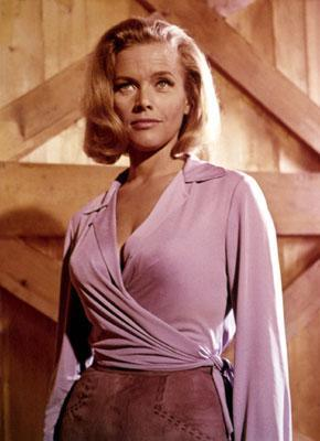 """<div class=""""caption-credit""""> Photo by: United Artists</div><div class=""""caption-title"""">Then</div>Honor Blackman, 86, portrayed the unfortunately named character Pussy Galore in 1964's """"Goldfinger."""" The character was based on Blanche Blackwell who was considered to be Bond creator Ian Fleming's greatest love."""