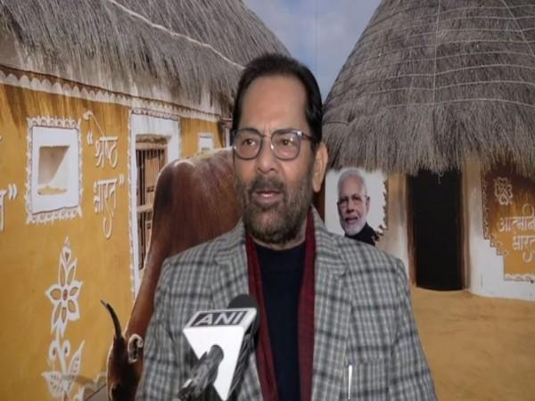 Union Minority Affairs Minister Mukhtar Abbas Naqvi speaking to ANI in New Delhi on Thursday [Photo/ANI]