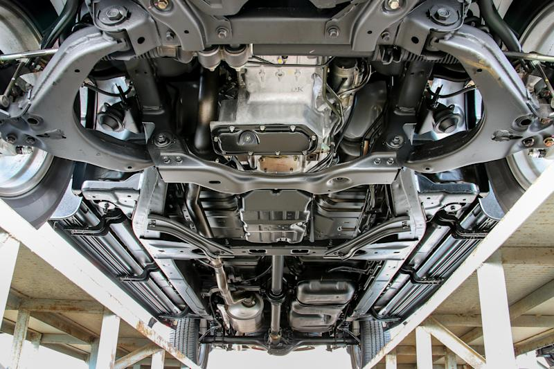 View of a vehicle's undercarriage