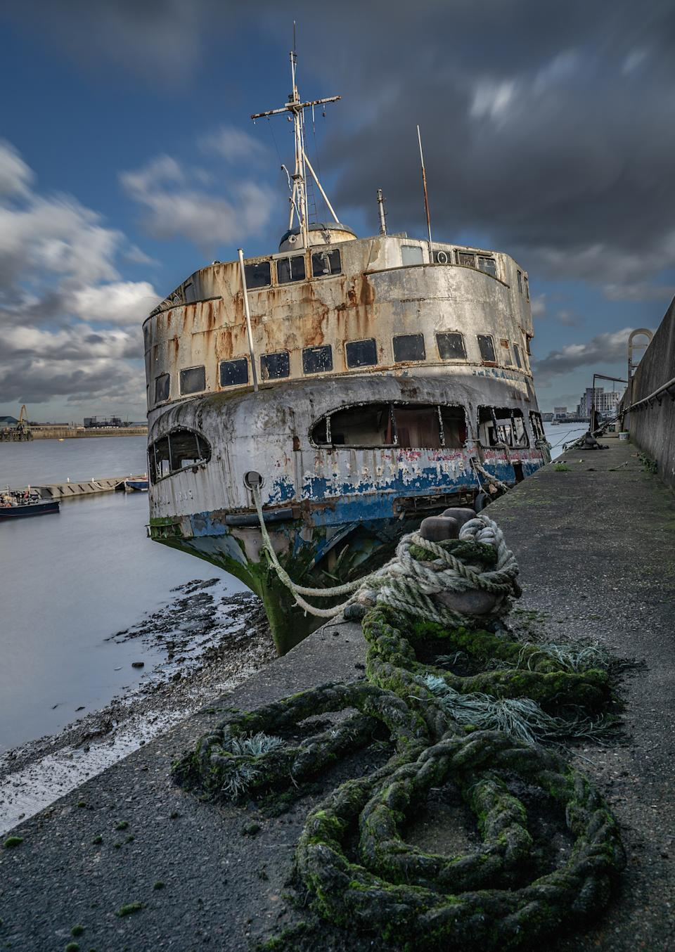'Fate of the Mersey Ferry', by Amanda Burgess, which has won the Ships and Wrecks category of the UK's Ultimate Sea View photography competition (Picture: PA)