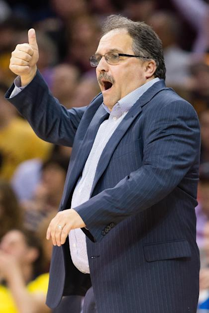 Stan Van Gundy is very excited to stay in the Reggie Jackson business. (Jason Miller/Getty Images)