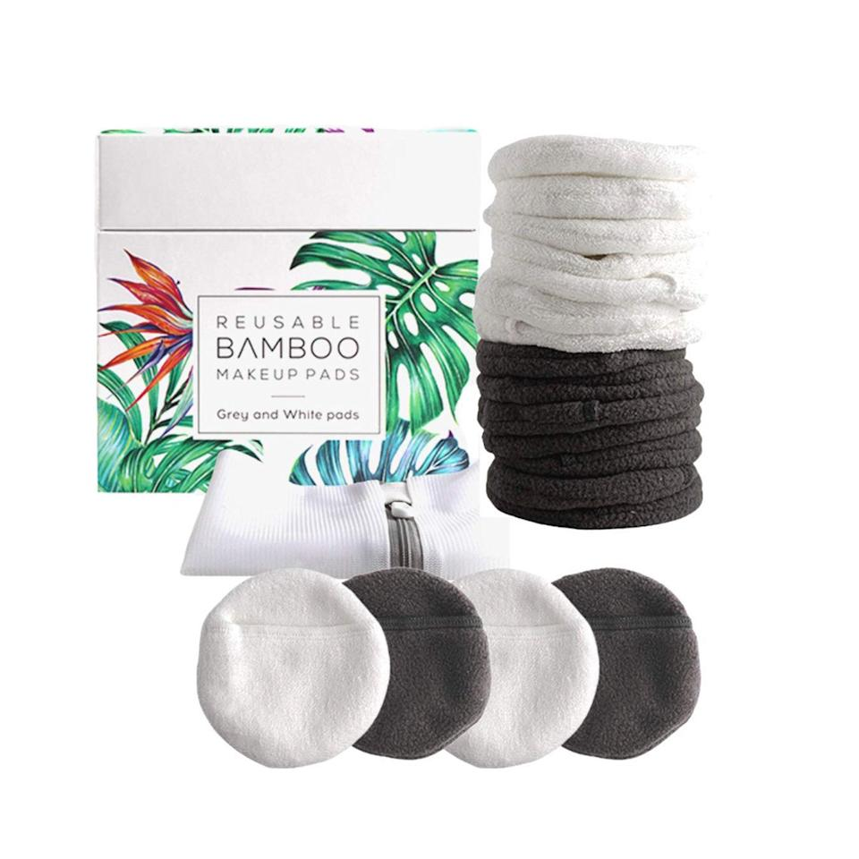 """Cheaper quality face pads can be abrasive on your skin, doing more harm than good, but these are made of plush terry bamboo to minimize irritation. $20, Amazon. <a href=""""https://www.amazon.com/Luxury-Bamboo-Reusable-Makeup-Remover/dp/B0839PK4ZW"""" rel=""""nofollow noopener"""" target=""""_blank"""" data-ylk=""""slk:Get it now!"""" class=""""link rapid-noclick-resp"""">Get it now!</a>"""