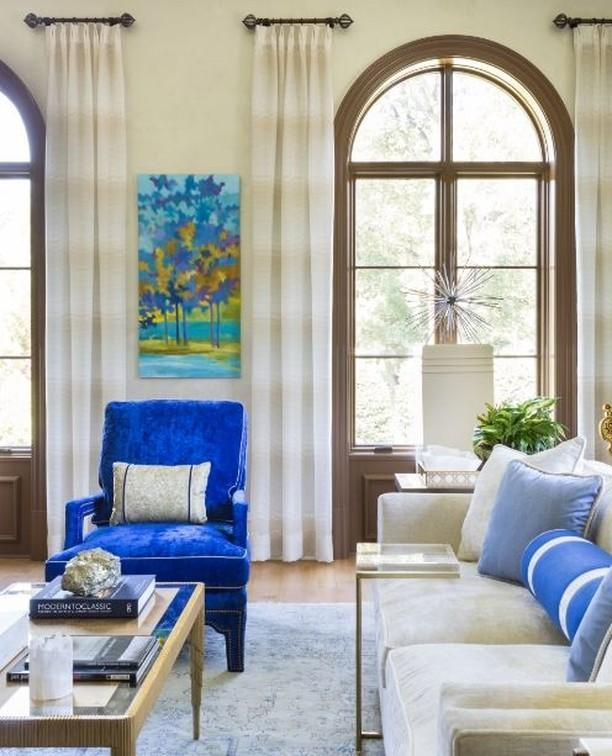 """<p>Washington, DC, designer Lorna Gross has a knack for marrying transitional furniture and traditional spaces, weaving in color and texture through clever use of fabric, art, and accessories. </p><p><a href=""""https://www.instagram.com/p/B_VE5Z_g8fy/"""" rel=""""nofollow noopener"""" target=""""_blank"""" data-ylk=""""slk:See the original post on Instagram"""" class=""""link rapid-noclick-resp"""">See the original post on Instagram</a></p>"""
