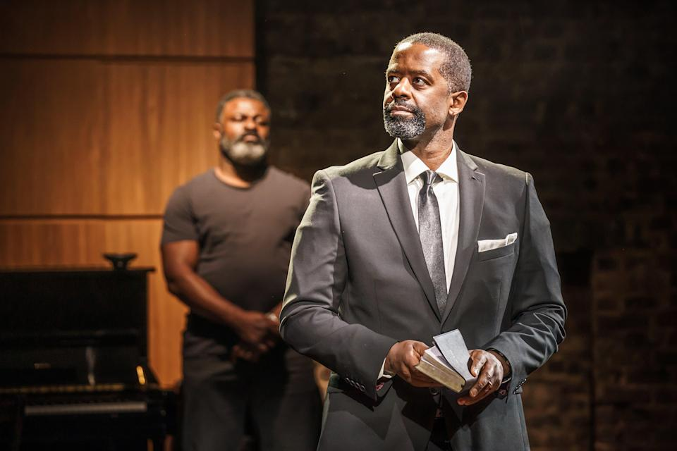 Danny Sapani and Adrian Lester in Hymn (Marc Brenner)