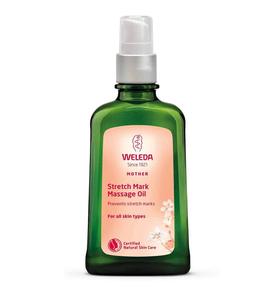 """Over <a href=""""https://amzn.to/3ftqo2f"""" target=""""_blank"""" rel=""""noopener noreferrer"""">1,500 moms swear by</a> this formula that acts as a shield against stretch marks and doubles as a soothing massage oil.<br /><br /><strong>Promising review: """"This oil makes my skin feel and look amazing. I apply it somewhat generously after the shower to my entire body, not just areas of concern.</strong>My skin looks and feels well hydrated and conditioned after use. I usually wait 15-20 minutes after application until I get dressed. The product is oil, so it needs time to soak into my skin. Overall, I love this oil so well that I plan to continue using this oil postpartum and beyond."""" —<a href=""""https://amzn.to/33BnouP"""" target=""""_blank"""" rel=""""nofollow noopener noreferrer"""" data-skimlinks-tracking=""""5189597"""" data-vars-affiliate=""""Amazon"""" data-vars-href=""""https://www.amazon.com/gp/customer-reviews/R254JYEQJQ8GA?tag=bfheather-20&ascsubtag=5189597%2C34%2C44%2Cmobile_web%2C0%2C0%2C160749"""" data-vars-keywords=""""cleaning,fast fashion"""" data-vars-link-id=""""160749"""" data-vars-price="""""""" data-vars-product-id=""""15996788"""" data-vars-retailers=""""Amazon"""">JoRuth<br /><br /></a><strong><a href=""""https://amzn.to/3fbOEFT"""" target=""""_blank"""" rel=""""noopener noreferrer"""">Get it from Amazon for $21.49.</a></strong>"""