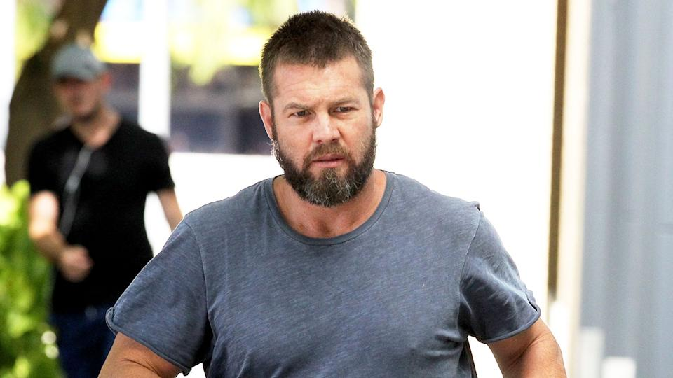 Pictured here, Ben Cousins appears outside a Fremantle court in 2017.
