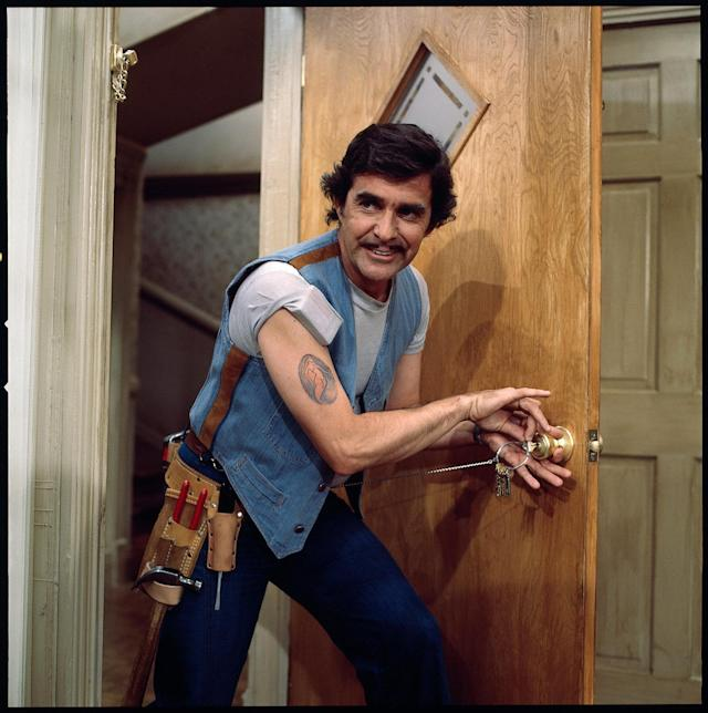 "<p>Pat Harrington Jr., an actor known best for his role as Schneider on ""One Day at a Time,"" died on January 6 at 86. — (Pictured) 'One Day at a Time' cast member, Pat Harrington, Jr. as building superintendent Dwayne Schneider. (CBS via Getty Images) </p>"