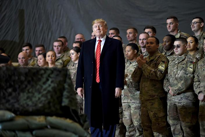 Image: Donald Trump in Afghanistan (Olivier Douliery / AFP - Getty Images file)
