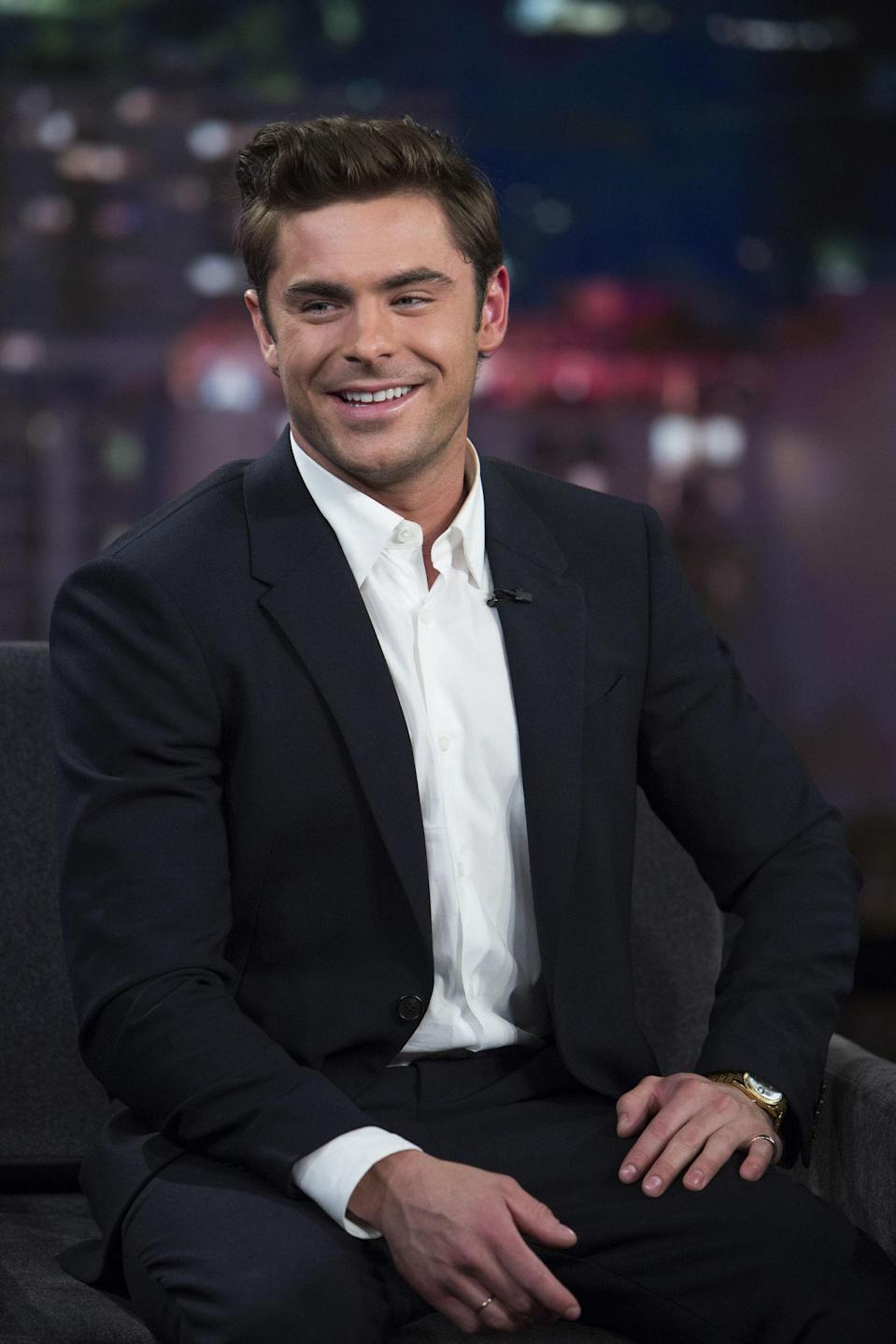 """<p>Efron had to get in <em>seriously</em><span> good shape for the upcoming movie<em> Baywatch</em>, so of course he had a strict workout routine and diet. You can imagine his excitement when he <a href=""""https://twitter.com/ZacEfron/status/707442604481355778"""" rel=""""nofollow noopener"""" target=""""_blank"""" data-ylk=""""slk:Tweeted about his cheat day"""" class=""""link rapid-noclick-resp"""">Tweeted about his cheat day</a>: a steak, four sides of potatoes and veggies, mac and cheese, three desserts, bread and butter, a brick of cheese, and caviar. And no leftovers. </span></p>"""