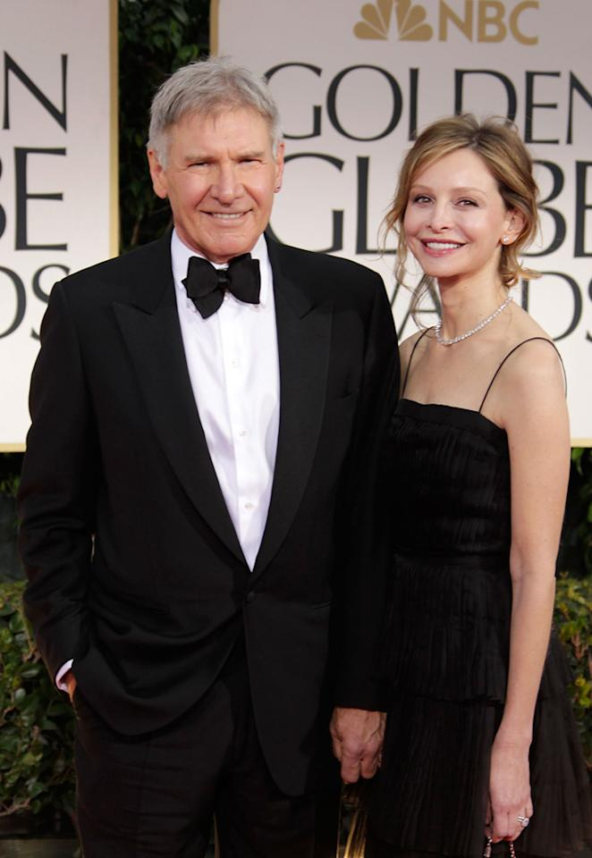 Harrison Ford and Calista Flockhart arrive at the 69th Annual Golden Globe Awards in Beverly Hills, California, on January 15.