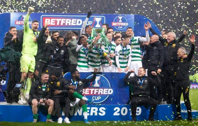 Celtic celebrate their Scottish Cup success