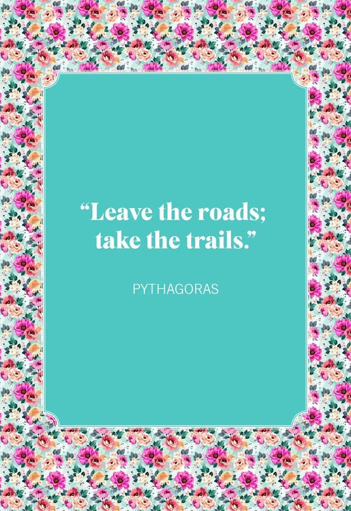 """<p>""""Leave the roads; take the trails.""""</p>"""
