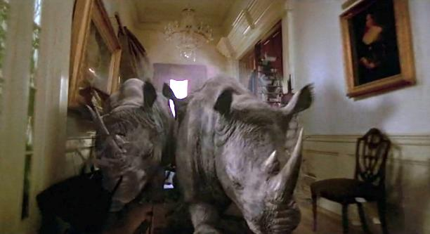 Rampaging animals hopped from a board game to the real world in 1995's original 'Jumanji'. (Credit: TriStar Pictures)