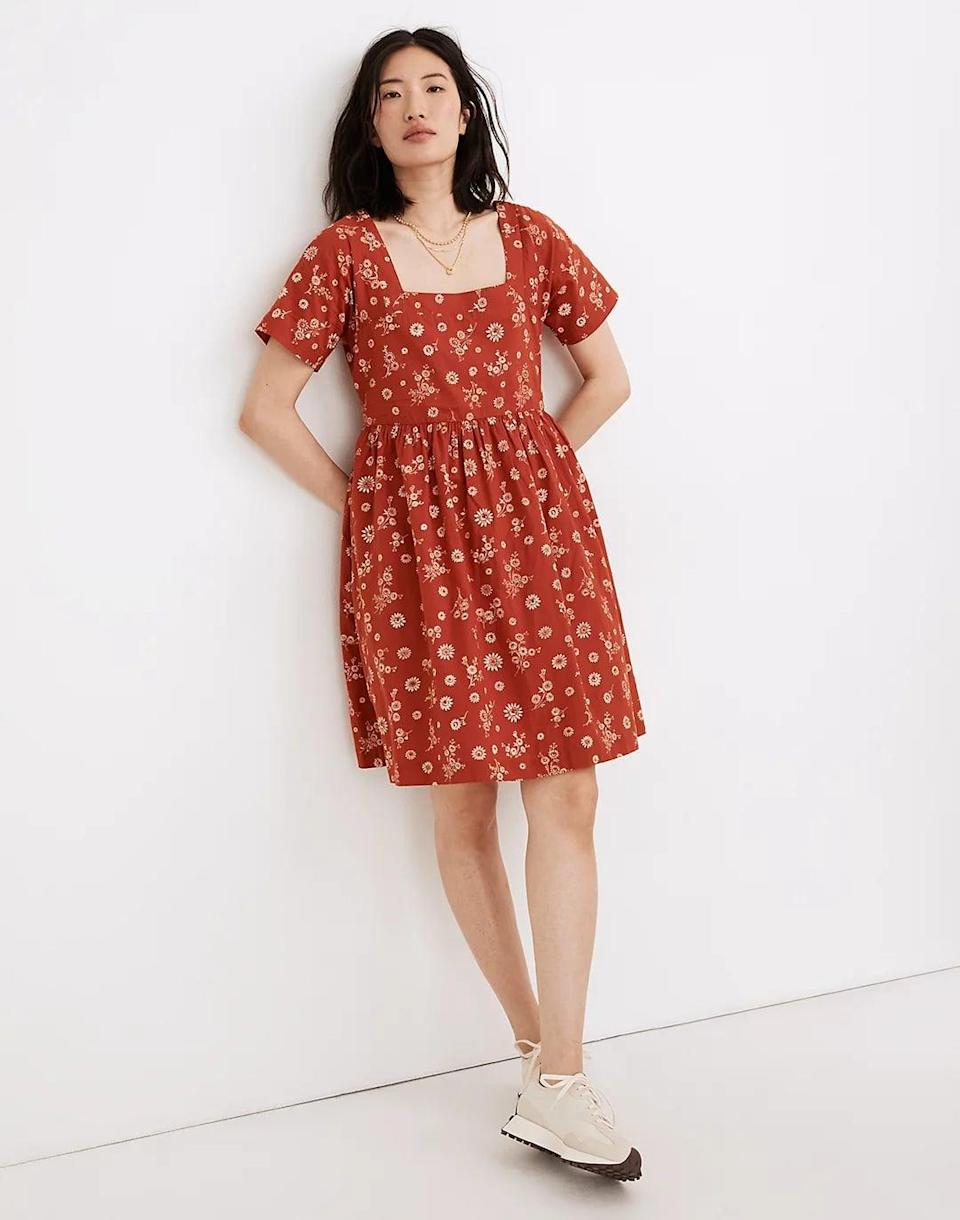 <p>This <span>Madewell Allie Mini Dress</span> ($108) has the perfect warm-weather silhouette with the mini length, short sleeves, and square neckline. It's cheerful and perfect for the next picnic.</p>