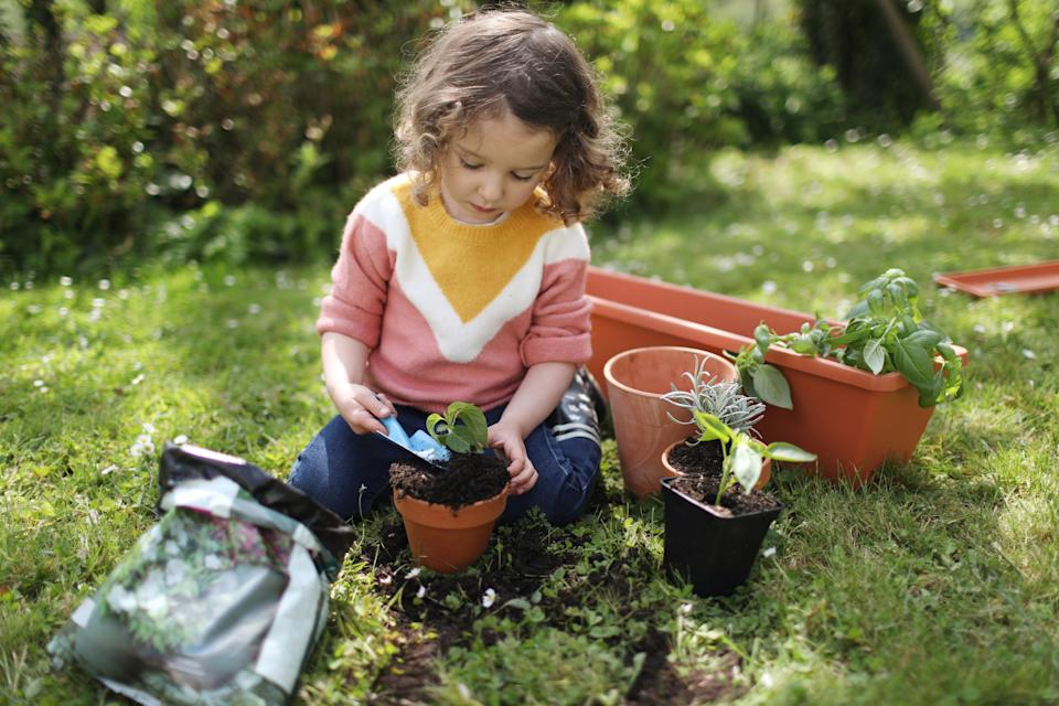 Getting kids involved in gardening could help them cope with the situation right now. (Getty Images)