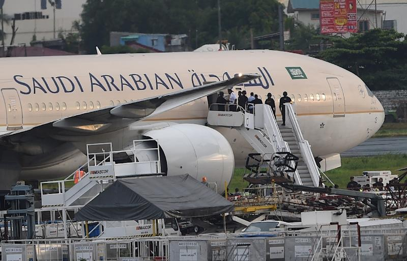 A tweet from Saudi Airlines informed their customers of an imminent cabin ban on electronic devices larger than a cellphone