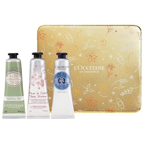 <p>With all the hand washing, they'll be extra grateful for this <span>L'Occitane Hand Cream Tin</span> ($32).</p>