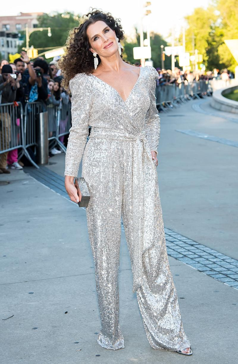 NEW YORK, NY - JUNE 03: Actress/model Brooke Shields is seen arriving to the 2019 CFDA Fashion Awards on June 3, 2019 in the Brooklyn borough of New York City. (Photo by Gilbert Carrasquillo/GC Images)