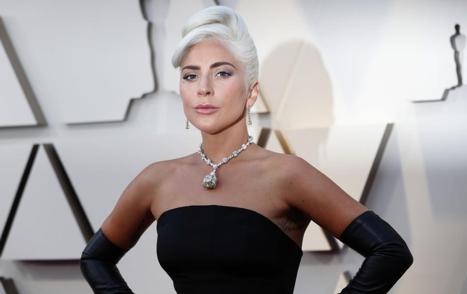 Oscars Arrivals - Red Carpet - Hollywood, Los Angeles, California, U.S., February 24, 2019. Lady Gaga arrives wearing Alexander McQueen. REUTERS/Mario Anzuoni