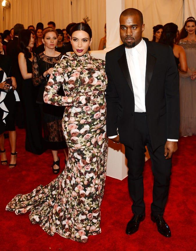 Kim Kardashian West and Kanye West attended the Met Gala in 2013.