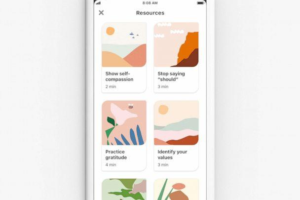 PHOTO: Pinterest has launched new 'emotional well-being activities' for users. (Pinterest)