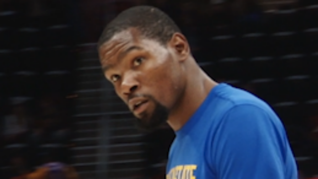 Kevin Durant underwent an MRI Friday which revealed a rib cartilage fracture.