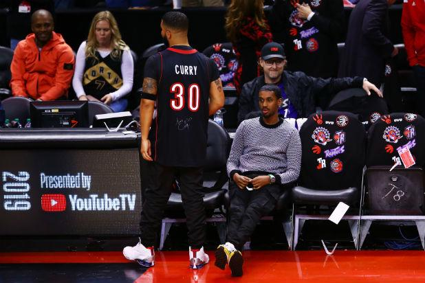 the latest dc382 c01fa Why Drake Was Wearing a Curry Jersey During Raptors' NBA ...