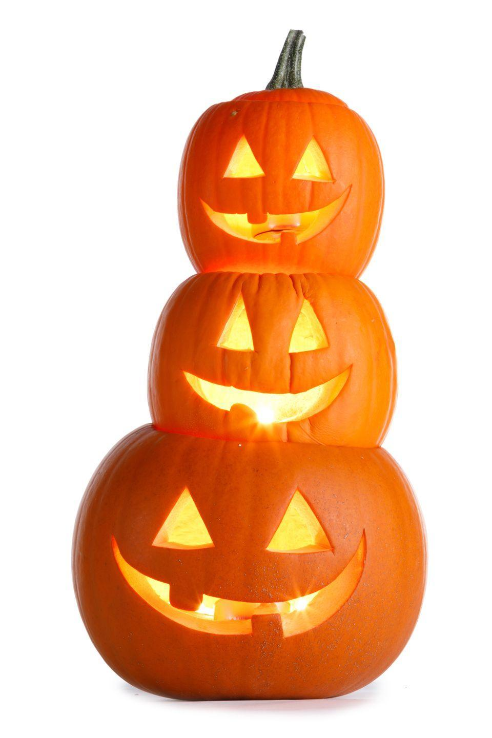 """<p><strong><em>What were originally used as the first Jack-o'-Lanterns?</em></strong></p><p><strong>Answer: </strong>Turnips. Originating in Ireland, people would hollow out turnips and place a lump of coal in it as a type of lantern and set it at their door as a guide for poor """"Jack."""" Jack, legend has it, tricked the devil and wasn't allowed into heaven or hell, so he was cursed to wander the earth forever in the in-between. The Irish then brought this tradition to America and found that pumpkins were a far better alternative to the turnip, thus instilling an American fall tradition.</p>"""