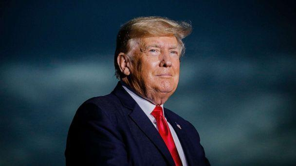 PHOTO: Former President Donald Trump arrives to hold a rally on July 3, 2021, in Sarasota, Fla. (Eva Marie Uzcategui/Getty Images, FILE)
