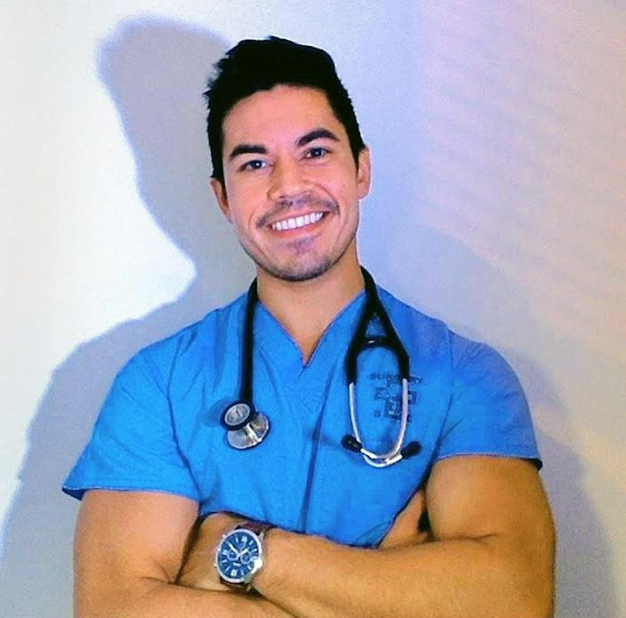 David Vega, 27, caught the virus in March when he was a medical student. (David Vega)