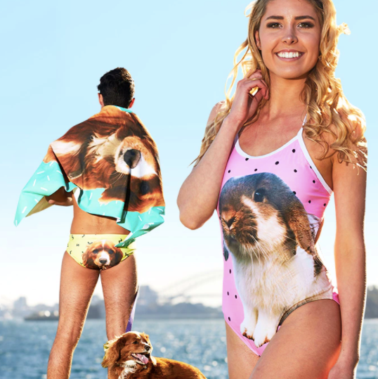 Custom pet swimwear