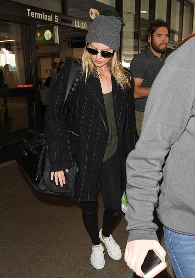 Margot (pictured in March) has been covering up in baggy clothing. Source: Getty