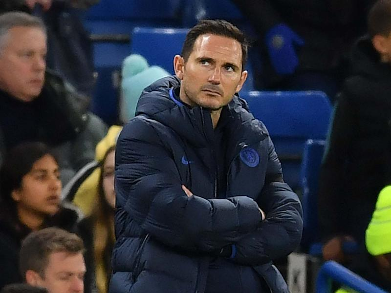 Chelsea's Frank Lampard looks on: AFP via Getty Images