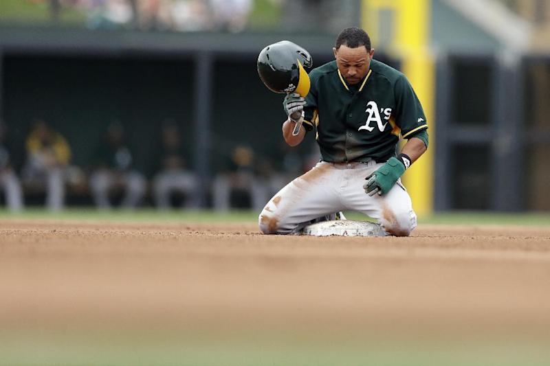 Kazmir pitches 3 scoreless innings in A's debut