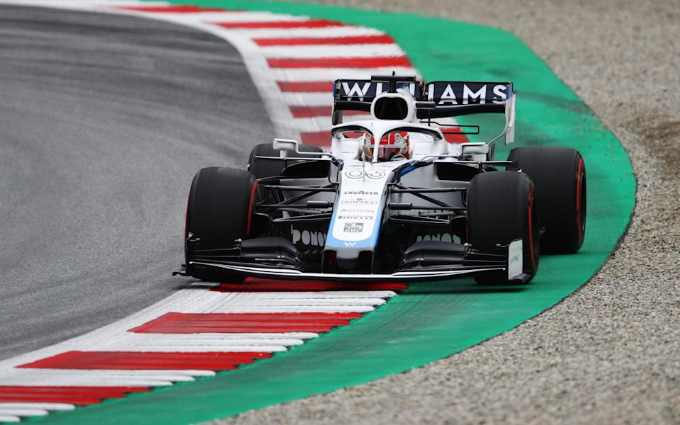 George Russell of Great Britain driving the (63) Williams Racing FW43 Mercedes on track during practice for the F1 Grand Prix of Austria at Red Bull Ring on July 03, 2020 in Spielberg, Austria - Getty Images/Bryn Lennon