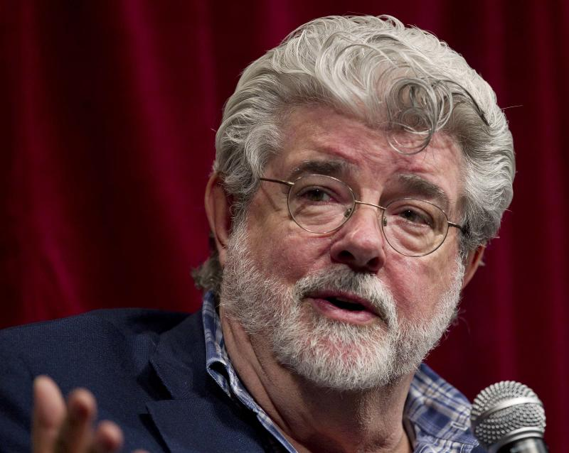 George Lucas talks about digital filmmaking during a panel discussion at teh CinemaCon convention, Wednesday, March 30, 2011, in Las Vegas. (AP Photo/Julie Jacobson)